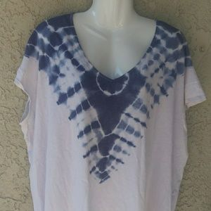 Free people blue/white we the free tie dye T-shirt